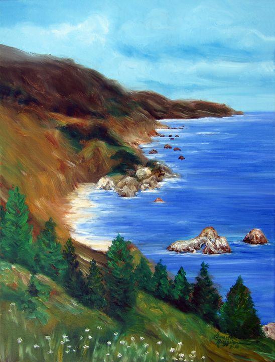 Big Sur, California - Leonardo Ruggieri Fine Art Paintings