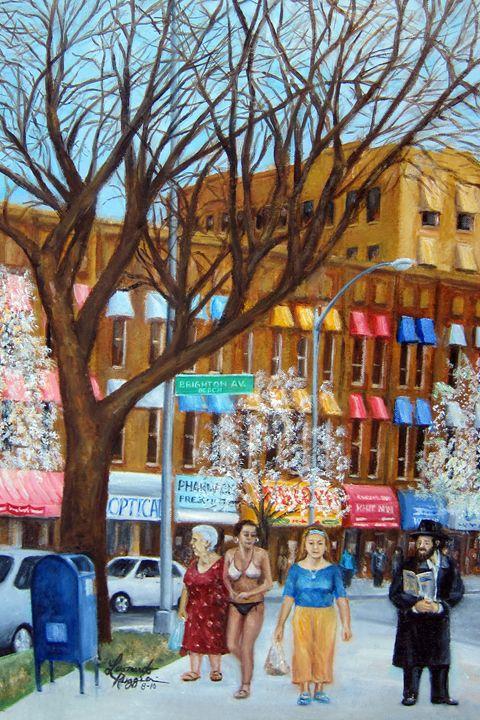 Brighton Beach Memoirs - Leonardo Ruggieri Fine Art Paintings