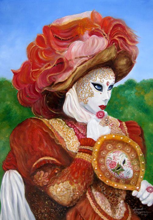 Venetian Rhapsody in Red - Leonardo Ruggieri Fine Art Paintings