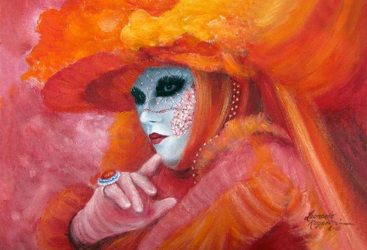 Venetian Flame - Leonardo Ruggieri Fine Art Paintings