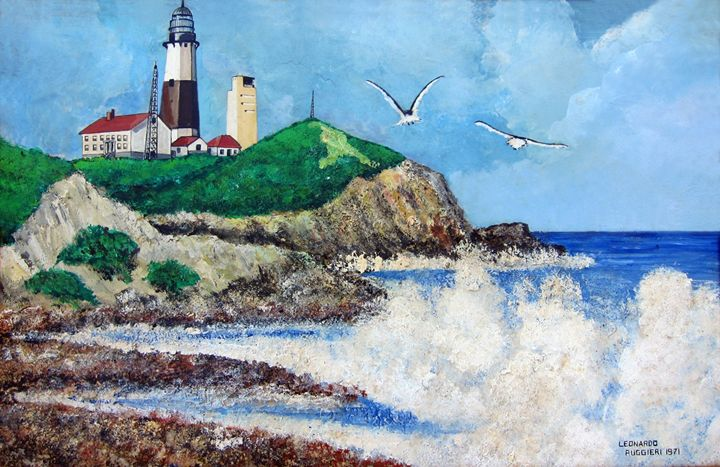 Montauk Pt. Lighthouse, Long Island - Leonardo Ruggieri Fine Art Paintings