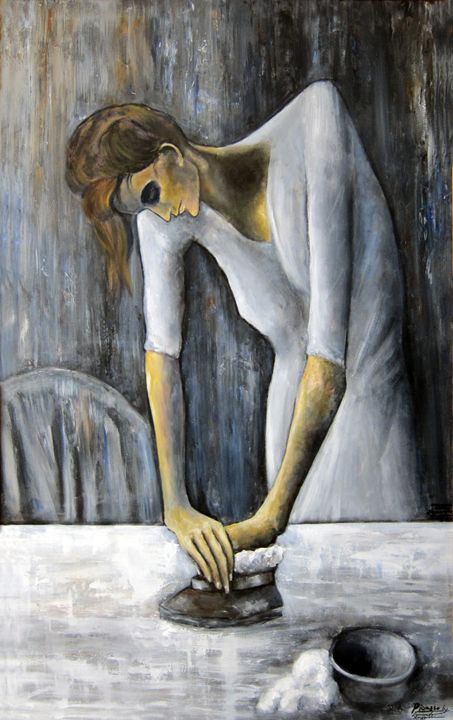Picasso's Woman Ironing - Leonardo Ruggieri Fine Art Paintings