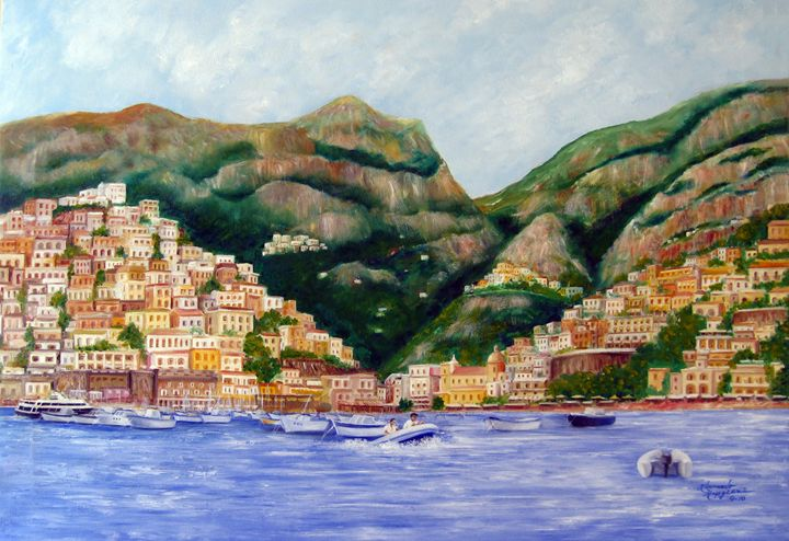 Positano, Italy - Leonardo Ruggieri Fine Art Paintings