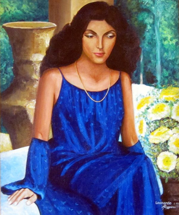 A Portrait of Adele - Leonardo Ruggieri Fine Art Paintings