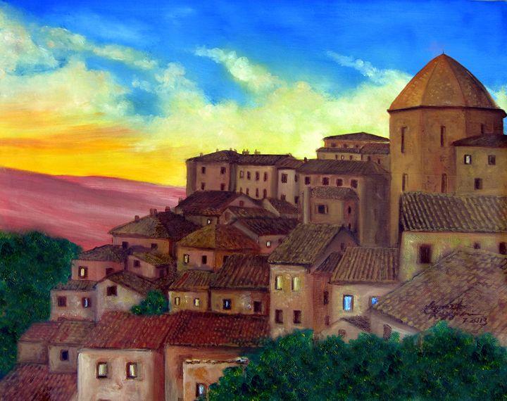 Tuscan Rooftops - Leonardo Ruggieri Fine Art Paintings