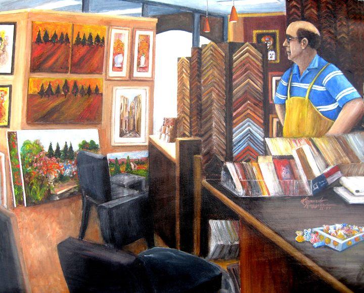 Waiting for Customers - Leonardo Ruggieri Fine Art Paintings