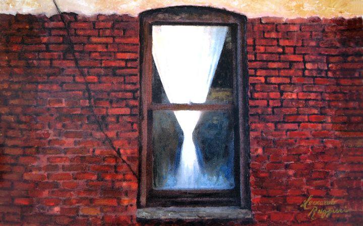 umbilical cord to the outside - Leonardo Ruggieri Fine Art Paintings