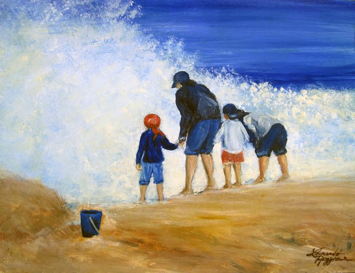 NJ Shore Frolick - Leonardo Ruggieri Fine Art Paintings