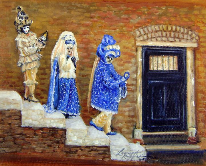 Three Venetians - Leonardo Ruggieri Fine Art Paintings