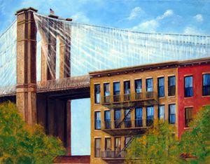 Brooklyn Bridge - Leonardo Ruggieri Fine Art Paintings