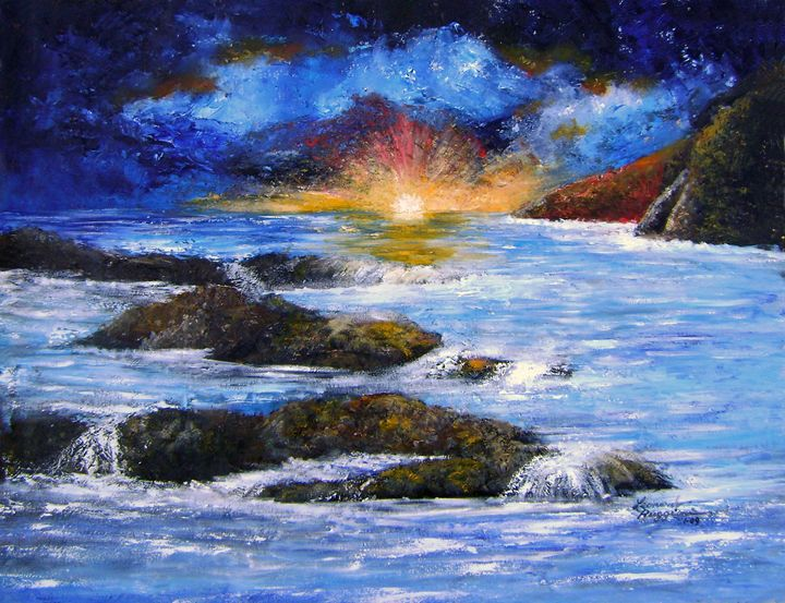 Surreal Sky and Sea - Leonardo Ruggieri Fine Art Paintings