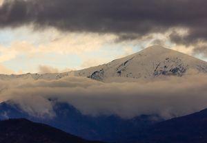 a landscape of striated clouds