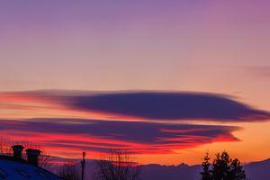 a multicolored cloudscape