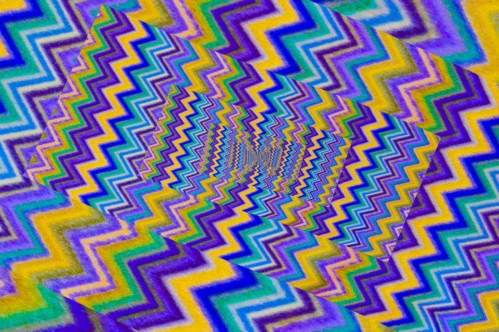 effect droste of a wool fabric - susanna mattioda