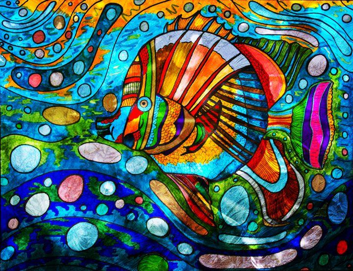 Fish in Water Inked - Mjjazz Designs
