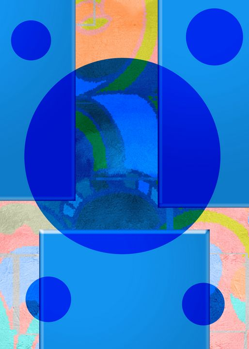 Abstract In Blue Glass - Mjjazz Designs