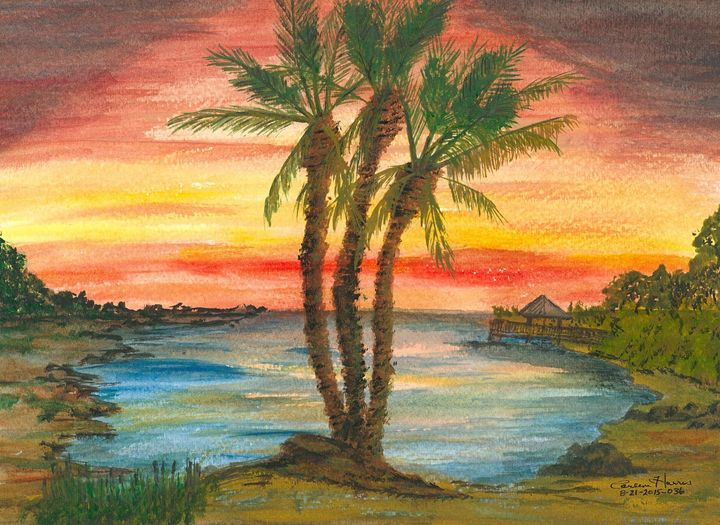 Peaceful Sunset - Fun With Art