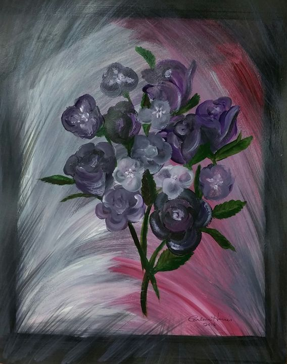Purple Flowers for Pancreatic Cancer - Fun With Art