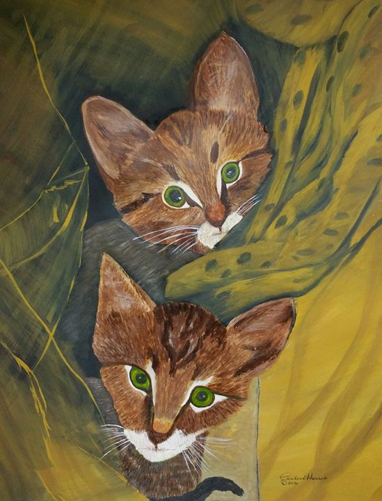 Rescued Kittens Oliver and Tobias - Fun With Art