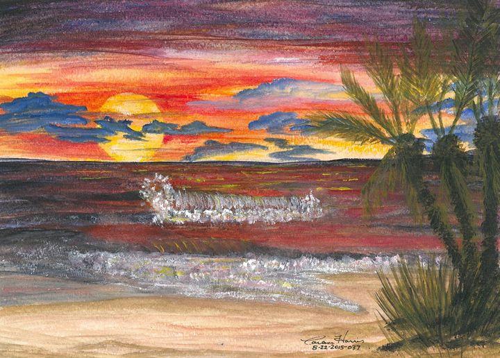 Crimson Sunset - Fun With Art