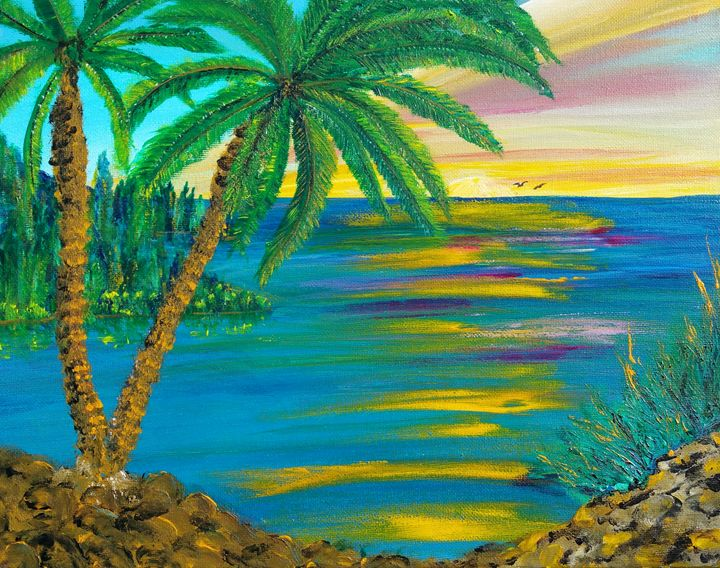 Palm Tree Paradise - Fun With Art