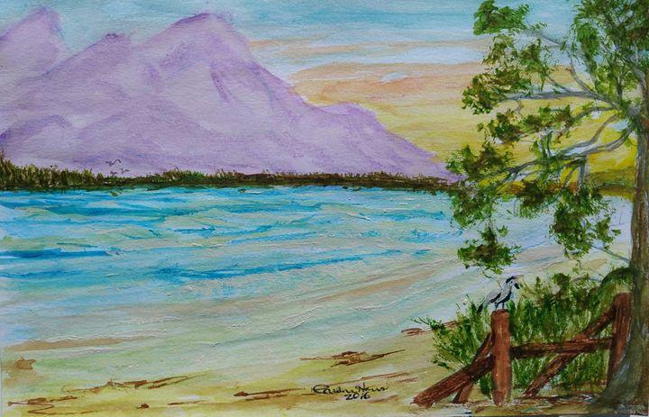 Purple Mountain View - Fun With Art