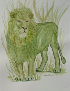 Botanical Lion