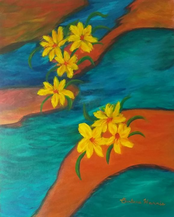 Rivers of Flowers - Fun With Art
