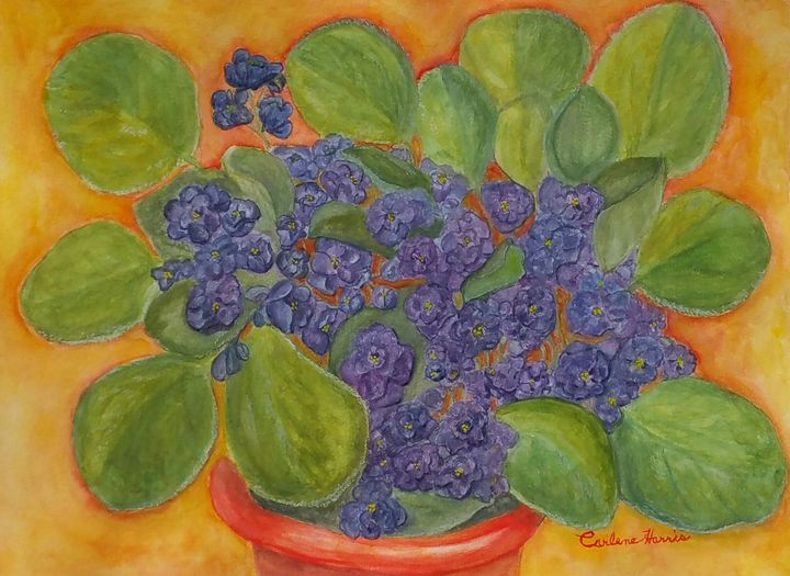 Violets For Floss - Fun With Art