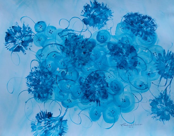 Flowers, Buttons and Ribbons - Fun With Art