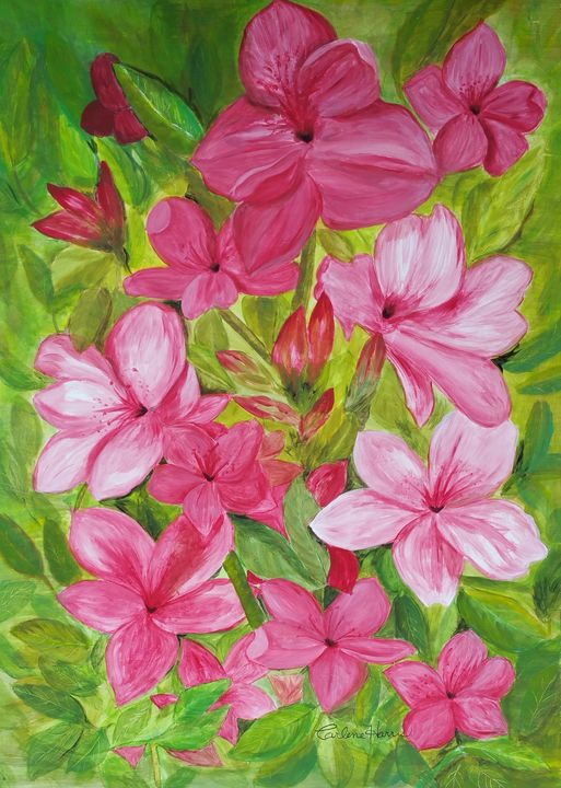 Azaleas - Fun With Art