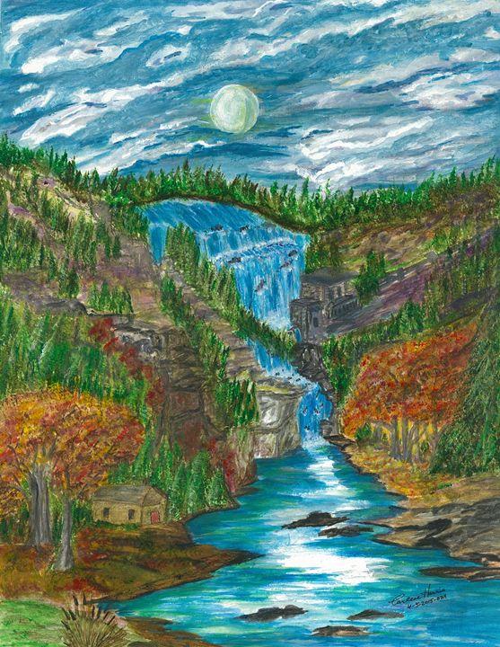 Falls in the Night - Fun With Art