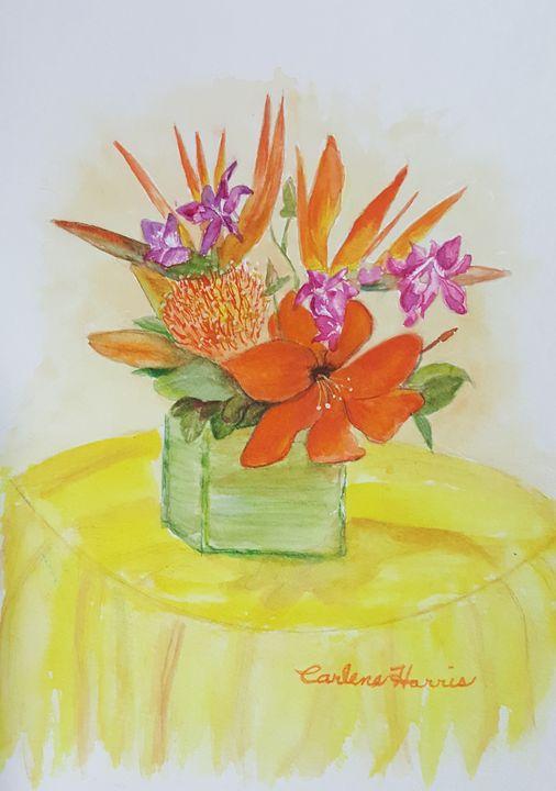 Colorful Bird Of Paradise Centerpiec - Fun With Art