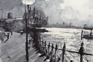 Sydney Harbor on a rainy Day