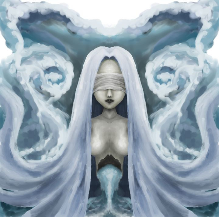 Dark zodiac series :aquarius - Noname Art