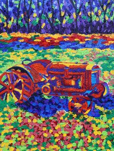 Retired Old Tractor - Kalashnikoff