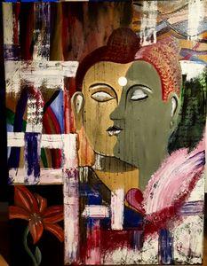 Buddha (black tear drops)