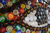 Original unique bottlecap mosaic
