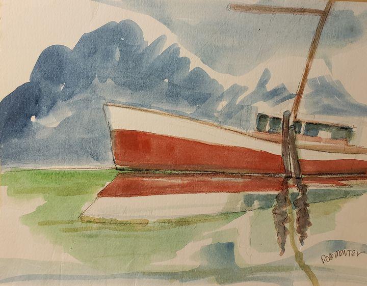 Alaska Crab Boat - Rob Menter Fine Art