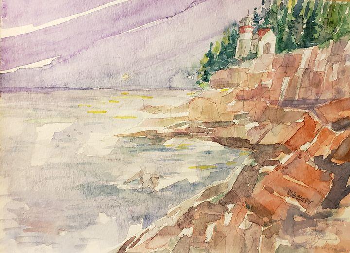 On The Rocks - Rob Menter Fine Art