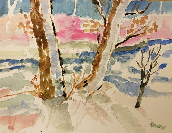 Snow Near The Creek - Rob Menter Fine Art