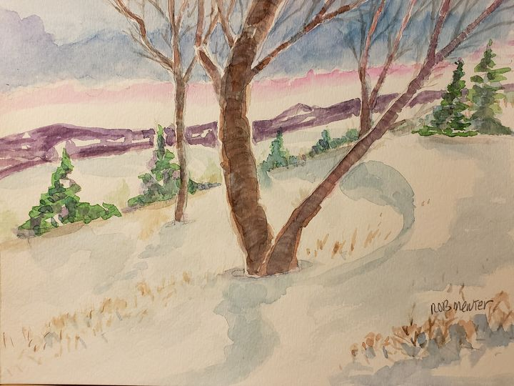 Winter Trees 2 - Rob Menter Fine Art