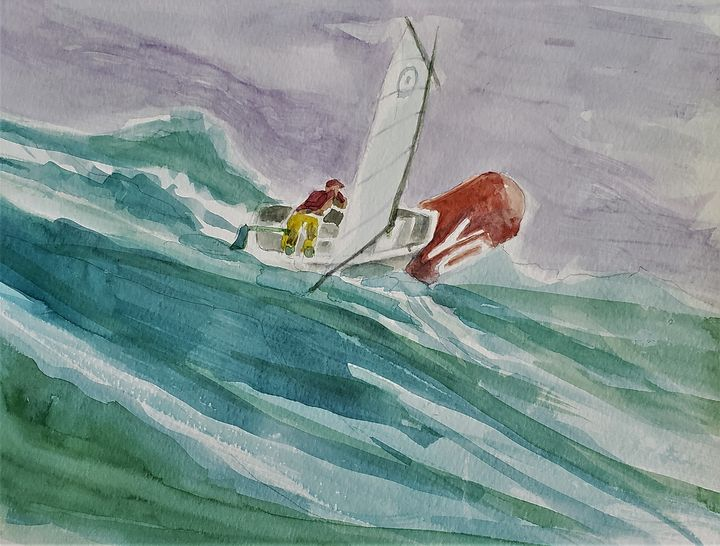 Sliding Down a Wave - Rob Menter Fine Art