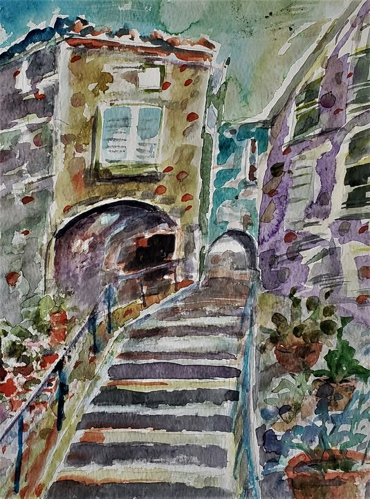 Italian Walkway - Rob Menter Fine Art