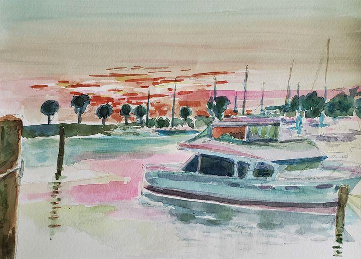 Morning Marina - Rob Menter Fine Art