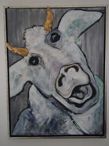 "Moody cow ""Crazy"""