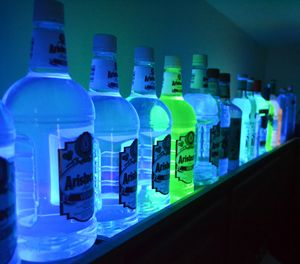 Glowing Bottles