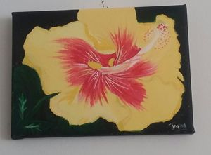 Beautiful Yellow flower - Janki's Art