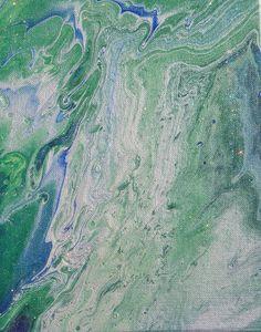 Blue and Green Pair w/Glitter Glaze