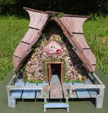 Garden Fairy House Handcrafted